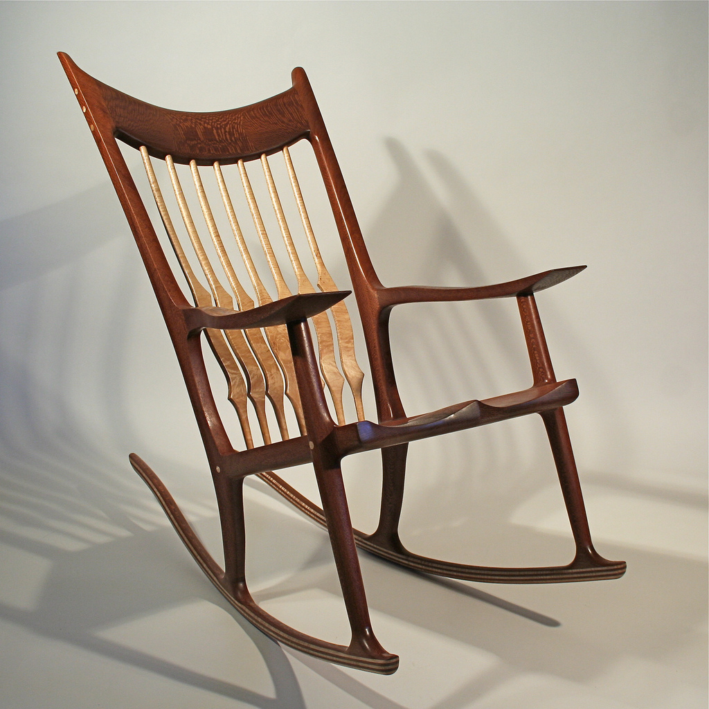 Rocking Chair, Sam Maloof Inspired, by Timothy's Woodworking