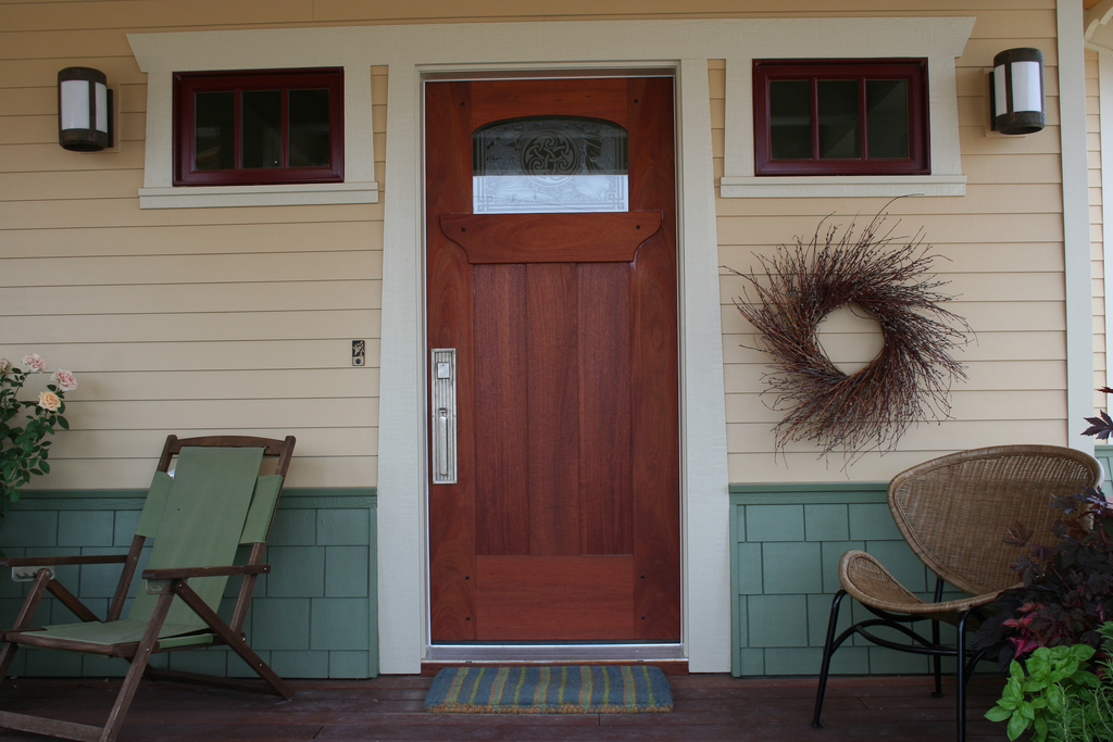 Craftsman Entry Door Of Mahogany Timothys Fine Woodworking